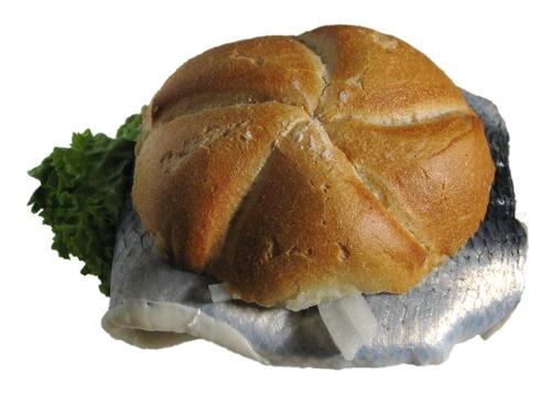 fischbroetchen, genau genommen ein matjeshering